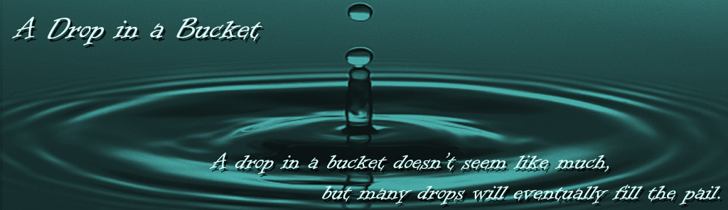 A Drop in a Bucket