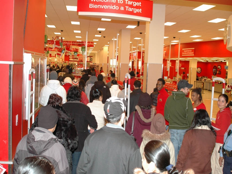 Black Friday Shoppers at Target